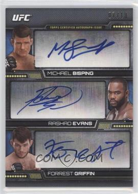 2014 Topps UFC Knockout - Three of a Kind Autograph #TOK-BEG - Michael Bisping, Rashad Evans, Forrest Griffin /10
