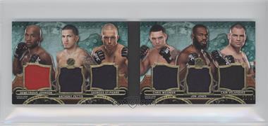 2014 Topps UFC Knockout - Triple Threads Relic Double Combos - Emerald #TTRDC-JPSWJV - Demetrious Johnson, Anthony Pettis, Georges St-Pierre, Chris Weidman, Jon Jones, Cain Velasquez /18