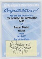 Renan Barao [REDEMPTION Being Redeemed]