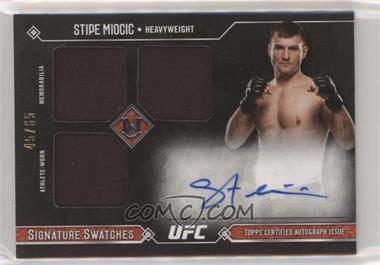 2017 Topps UFC Museum Collection - Signature Swatches Triple #SSATR-SM - Stipe Miocic /65