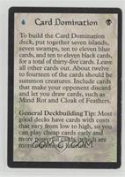 Card Domination Deck - How to Play [Noted]
