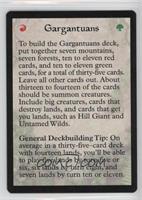 Gargantuans Deck - How to Play