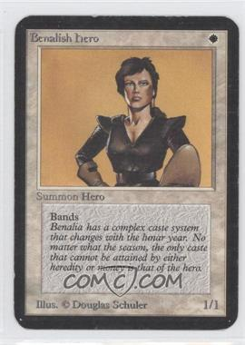 1993 Magic: The Gathering - Core Set: Alpha - Booster Pack [Base] #NoN - Benalish Hero