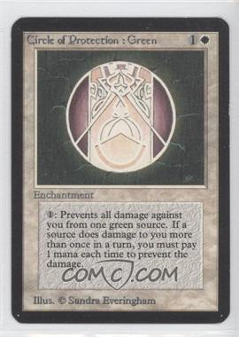 1993 Magic: The Gathering - Core Set: Alpha - Booster Pack [Base] #NoN - Circle of Protection: Green