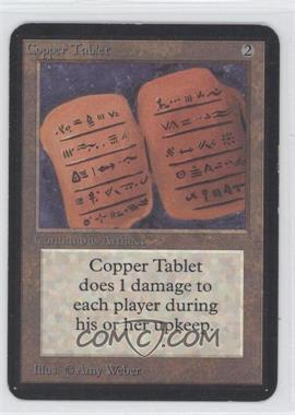 1993 Magic: The Gathering - Core Set: Alpha - Booster Pack [Base] #NoN - Copper Tablet