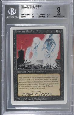 1994 Magic: The Gathering - Core Set: Revised - Booster Pack [Base] #ANDE - Animate Dead [BGS 9 MINT]
