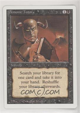 1994 Magic: The Gathering - Core Set: Revised - Booster Pack [Base] #DETU - Demonic Tutor