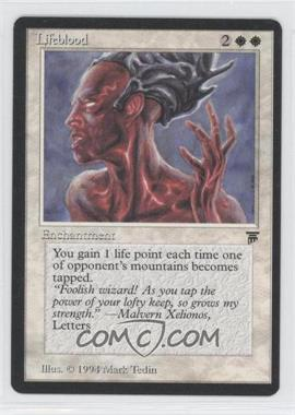1994 Magic: The Gathering - Legends - Booster Pack [Base] #NoN - Lifeblood