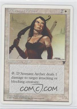 1995 Magic: The Gathering - Chronicles - Booster Pack White Border Compilation Set #NoN - Legends - D'Avenant Archer