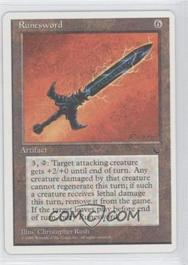 1995 Magic: The Gathering - Chronicles - Booster Pack White Border Compilation Set #NoN - The Dark - Runesword