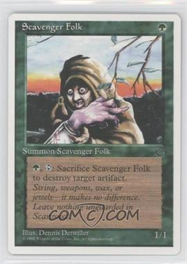 1995 Magic: The Gathering - Chronicles - Booster Pack White Border Compilation Set #NoN - The Dark - Scavenger Folk