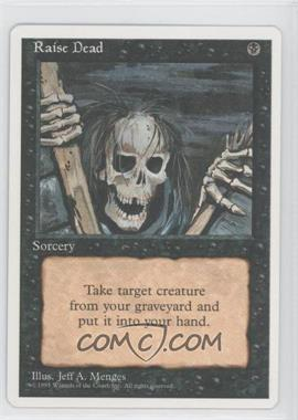1995 Magic: The Gathering - Core Set: 4th Edition - Booster Pack [Base] #RADE - Raise Dead