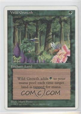 1995 Magic: The Gathering - Core Set: 4th Edition - Booster Pack [Base] #WIGR - Wild Growth [Noted]