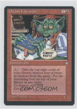 1995 Magic: The Gathering - Ice Age - Booster Pack [Base] #NoN - Orcish Librarian