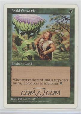 1997 Magic: The Gathering - Core Set: 5th Edition - Booster Pack [Base] #WIGR - Wild Growth