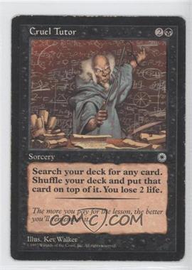 1997 Magic: The Gathering - Portal - Starter Set [Base] #NoN - Cruel Tutor