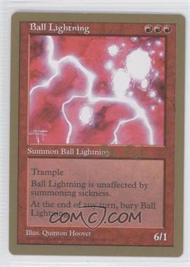 1998 Magic: The Gathering - Seattle - World Championships Decks #NoN - Ball Lightning