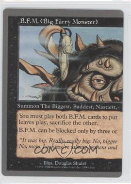 1998 Magic: The Gathering - Unglued - Booster Pack [Base] #28 - B.F.M. (Big Furry Monster) (Left Half)