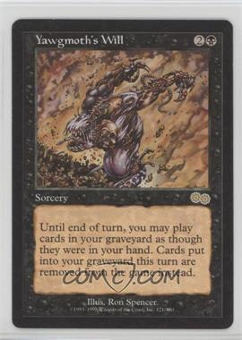 1998 Magic: The Gathering - Urza's Saga - Booster Pack [Base] #171 - Yawgmoth's Will