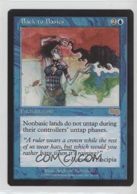 1998 Magic: The Gathering - Urza's Saga - Booster Pack [Base] #62 - Back to Basics