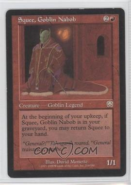 1999 Magic: The Gathering - Mercadian Masques - Booster Pack [Base] #214 - Squee, Goblin Nabob