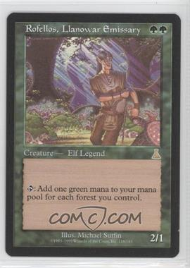 1999 Magic: The Gathering - Urza's Destiny - Booster Pack [Base] #118 - Rofellos, Llanowar Emissary