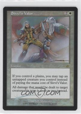 2000 Magic: The Gathering - Nemesis - Booster Pack [Base] - Foil #22 - Sivvi's Valor