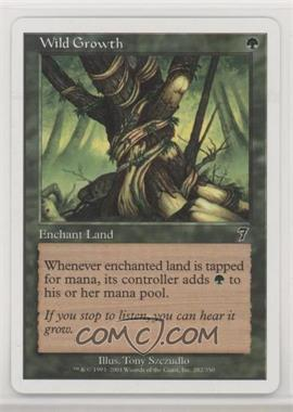 2001 Magic: The Gathering - Core Set: 7th Edition - Booster Pack [Base] #282 - Wild Growth