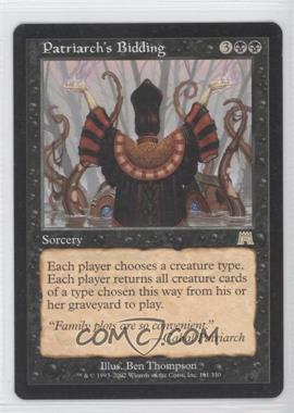 2002 Magic: The Gathering - Onslaught - Booster Pack [Base] #161 - Patriarch's Bidding