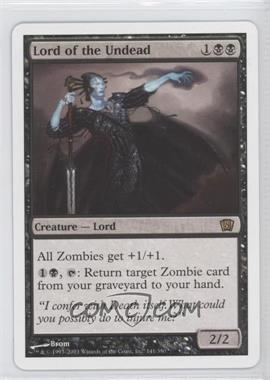2003 Magic: The Gathering - Core Set: 8th Edition - Booster Pack [Base] #141 - Lord of the Undead