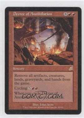 2003 Magic: The Gathering - Scourge - Booster Pack [Base] #85 - Decree of Annihilation