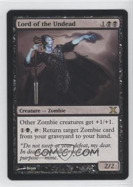 2007 Magic: The Gathering - Core Set: 10th Edition - Booster Pack [Base] #155 - Lord of the Undead