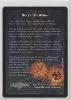 Rule Tip: Wither (Shards of Alara Ad)