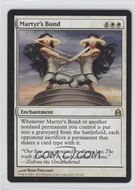 2011 Magic: The Gathering - - Commander Format #19 - Martyr's Bond