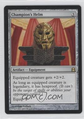 2011 Magic: The Gathering - - Commander Format #244 - Champion's Helm