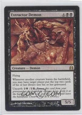 2011 Magic: The Gathering - - Commander Format #81 - Extractor Demon