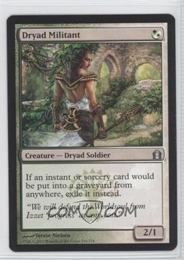 2012 Magic: The Gathering - Return to Ravnica - Booster Pack [Base] #214 - Dryad Militant