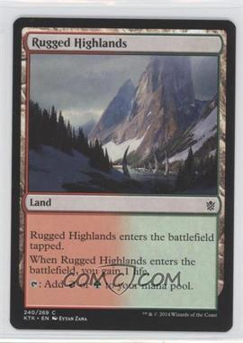 2014 Magic: The Gathering - Khans of Tarkir - Booster Pack [Base] #240 - Rugged Highlands