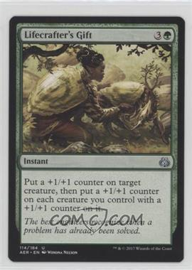 2017 Magic: The Gathering - Aether Revolt - Base Set - English #114 - Lifecrafter's Gift