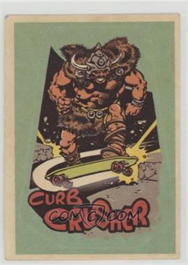 1976 Donruss Skateboard Stickers - [Base] #NoN - Curb Crusher