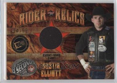 2009 Press Pass 8 Seconds - Rider Relics - Gold #RR-DE - Dustin Elliott /99