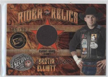 2009 Press Pass 8 Seconds - Rider Relics - Gold #RR-DE - Dustin Elliott /99