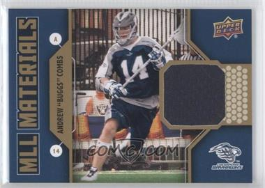 "2011 Upper Deck Major League Lacrosse - MLL Materials #M-AC - Andrew ""Buggs"" Combs"