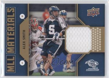 2011 Upper Deck Major League Lacrosse - MLL Materials #M-AS - Alex Smith
