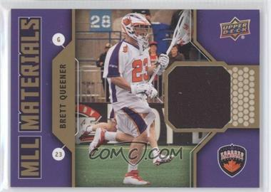 2011 Upper Deck Major League Lacrosse - MLL Materials #M-BQ - Brett Queener