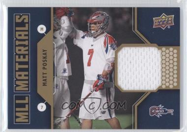 2011 Upper Deck Major League Lacrosse - MLL Materials #M-MP - Matt Poskay