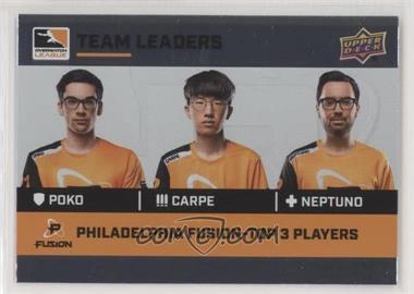 2019 Upper Deck Overwatch League - Team Leaders #TL-9 - Poko, Carpe, neptuNo