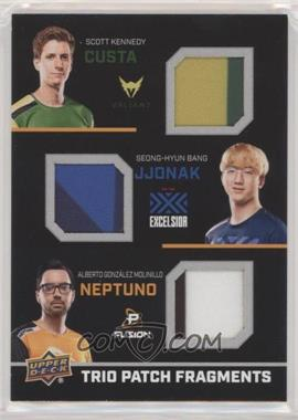 2019 Upper Deck Overwatch League - Trio Fragments - Patch #TFP-CJN - Custa, JJoNak, neptuNo /10