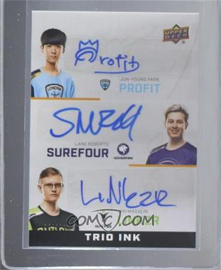 2019 Upper Deck Overwatch League - Trio Ink #TI-LPS - Profit, Surefour, LiNkzr [Mint]