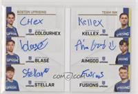 Kellex, AimGod, Colourhex, blase, Fusions, Stellar #/30